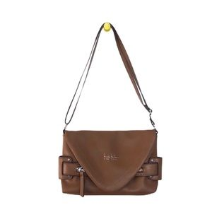 Nicole Miller Brown Faux Leather Purse Handbag